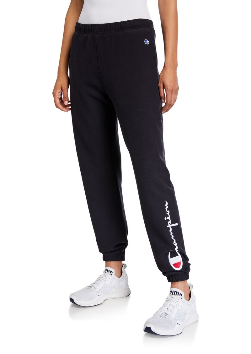 Champion Logo Sweatpants with Elastic Cuffs