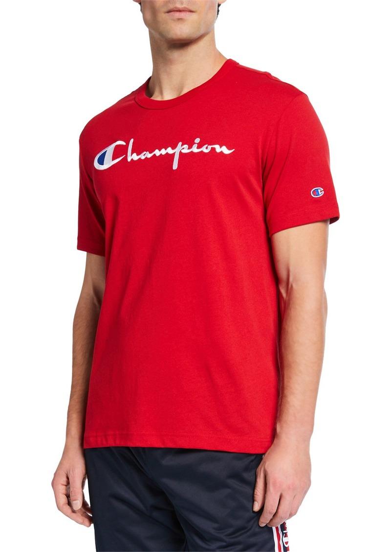 Champion Men's Script Logo T-Shirt