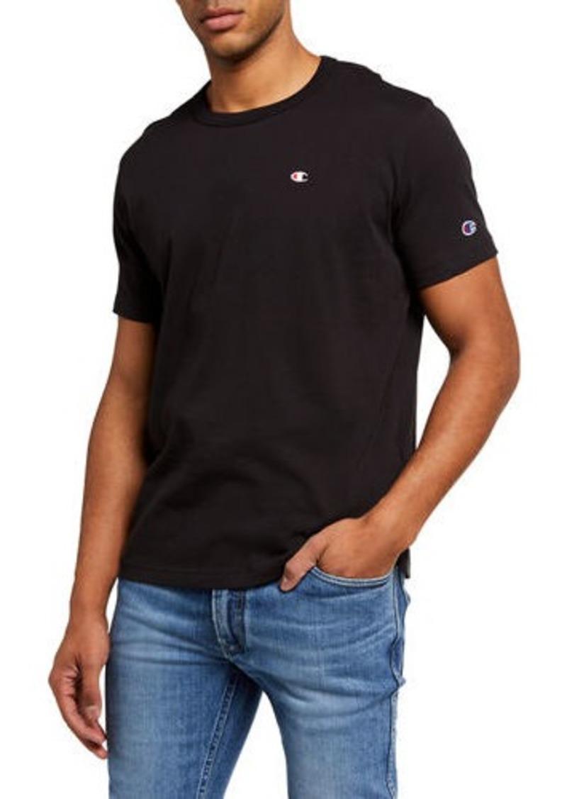 Champion Men's Solid Logo Crewneck T-Shirt