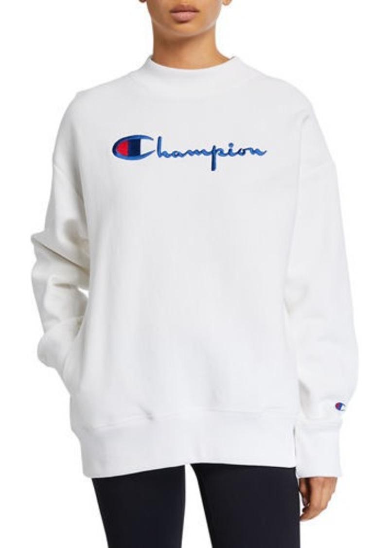 Champion Oversized Logo Crewneck Sweatshirt