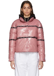 Champion Pink Shiny Puffer Jacket
