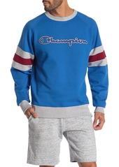 Champion Powerblend Colorblock Crew Neck Sweatshirt