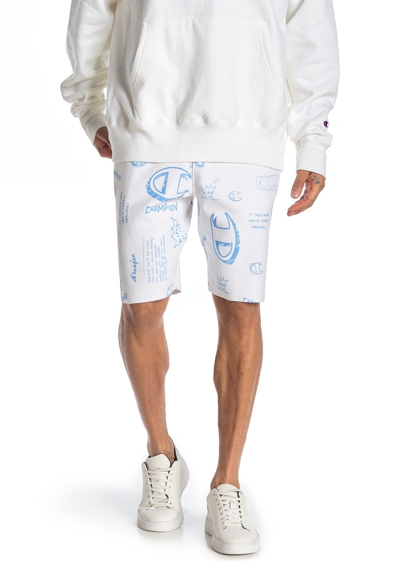 Champion Reverse Weave Cutoff Logo Shorts