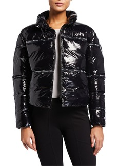Champion Shiny Zip-Front Puffer Jacket