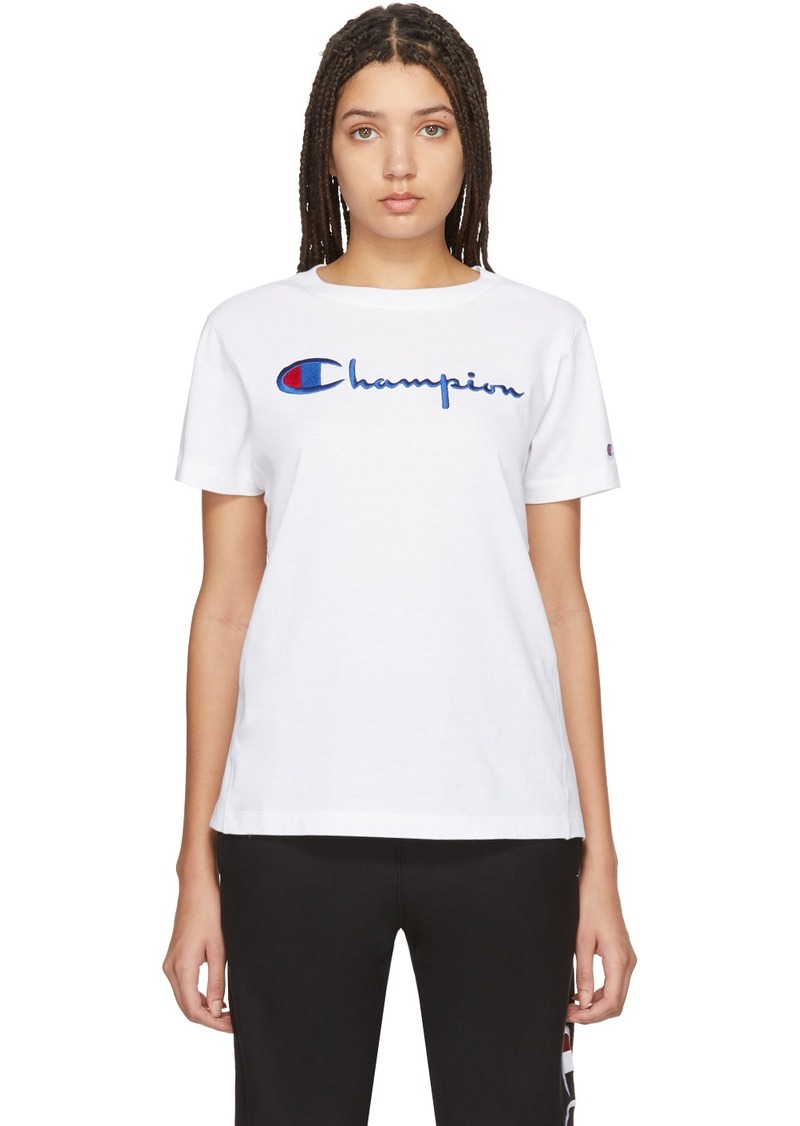 Champion White Big Script T-Shirt