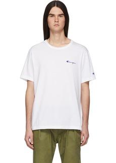 Champion White Small Script Logo T-Shirt