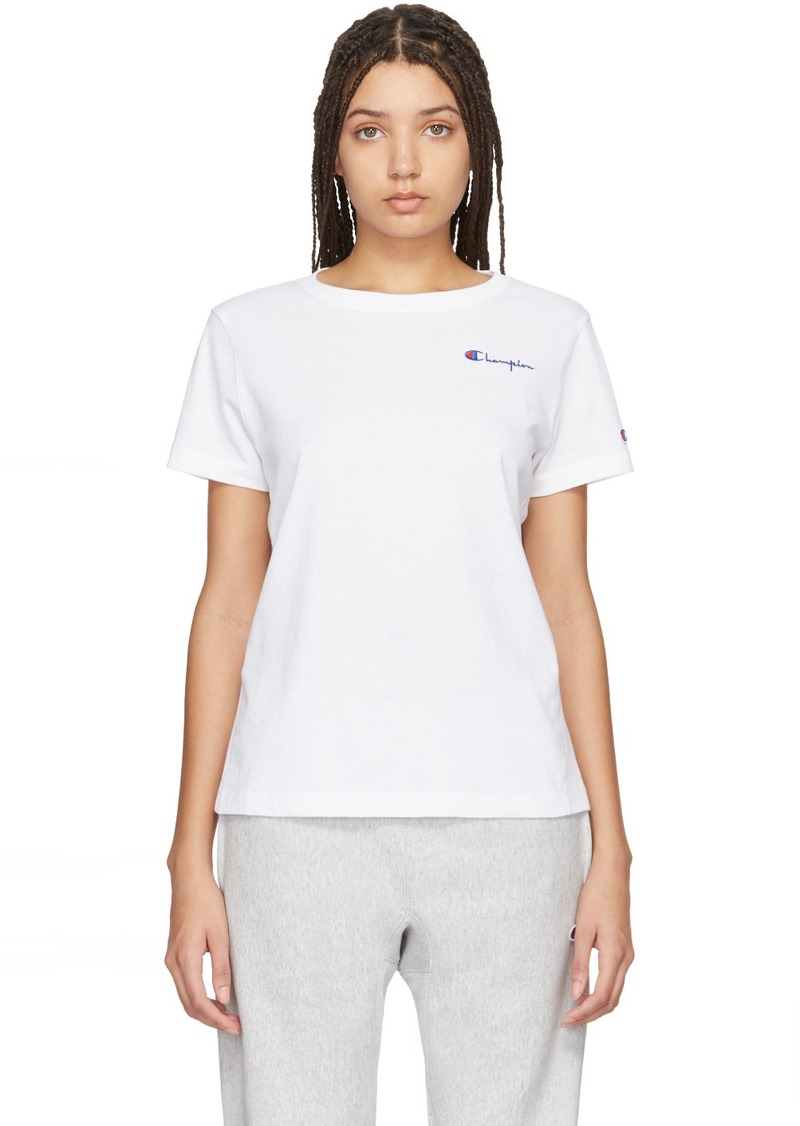 Champion White Small Script T-Shirt