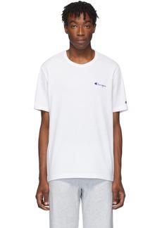 Champion White Small Script T-Shirt