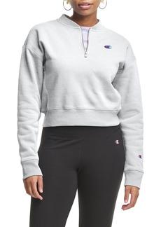 Women's Champion Crop Reverse Weave Quarter Zip Sweatshirt