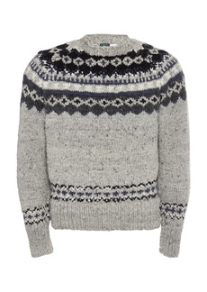 Chamula Fair Isle Printed Wool Pullover Sweater