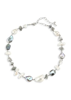Chan Luu 10-15MM Mixed Pearl & Gemstone Necklace