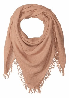 Chan Luu 100% Cashmere Scarf with Tied Tassel Fringe At Ends