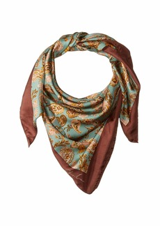 Chan Luu 100% Silk Twill Dancing Fall Paisley Oversized Neckerchief Scarf