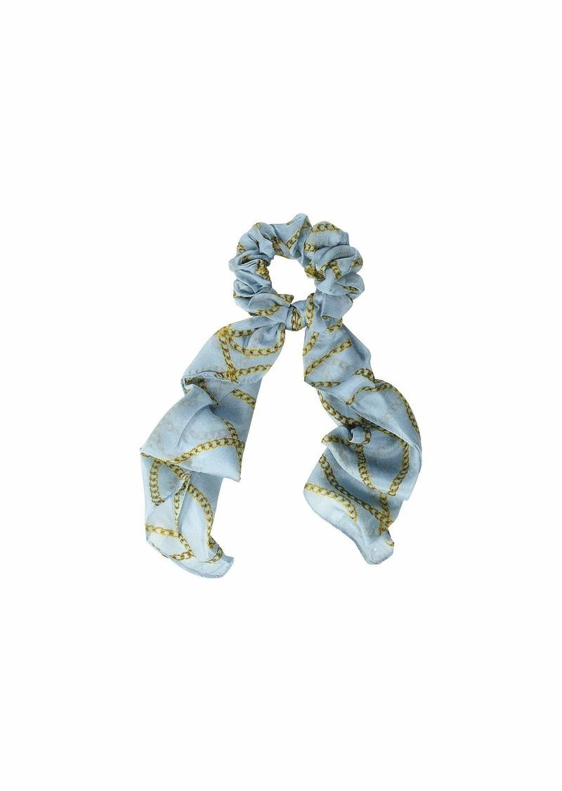 Chan Luu 100% Silk Vintage Chain Print Scrunchie