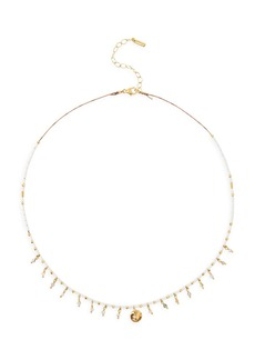 Chan Luu 18K Goldplated, Grey Labradorite & Rutilated Quartz Beaded Charm Necklace