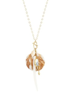 Chan Luu 18K Goldplated, Mother-Of-Pearl & Shell Charm Long Necklace