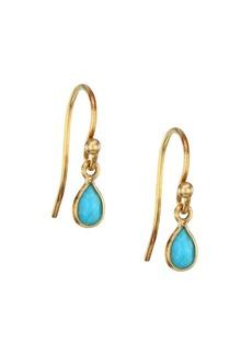Chan Luu 18K Goldplated Sterling Silver & Turquoise Drop Earrings
