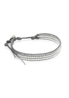 Chan Luu 2MM White Freshwater Pearl & Multi-Stone Leather Cord Bracelet