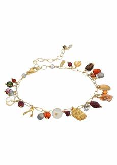 "Chan Luu 6"" Adjustable Charm Bracelet with Semi Precious Stones"