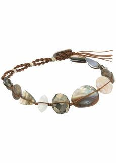 "Chan Luu 6"" Sterling Silver Adjustable Bracelet with Semi Precious Stones"