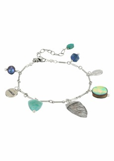 "Chan Luu 6.25"" Adjustable Charm Bracelet with Semi Precious Stones"