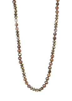 Chan Luu 6MM Dark Champagne Pearl & Sterling Silver Mix Necklace