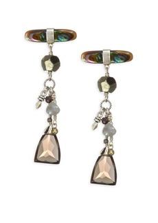 Chan Luu Abalone Mix Stone Earrings