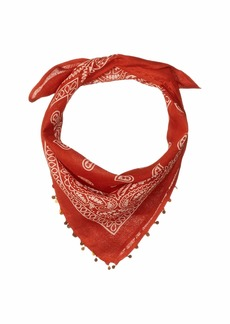 Chan Luu Bandana Neckerchief with Coin Detailing Scarf