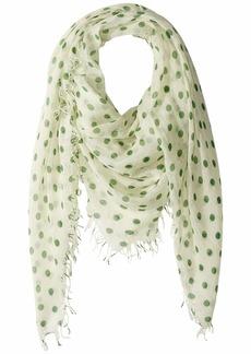 Chan Luu Cashmere Silk Large Polka Dots Scarf