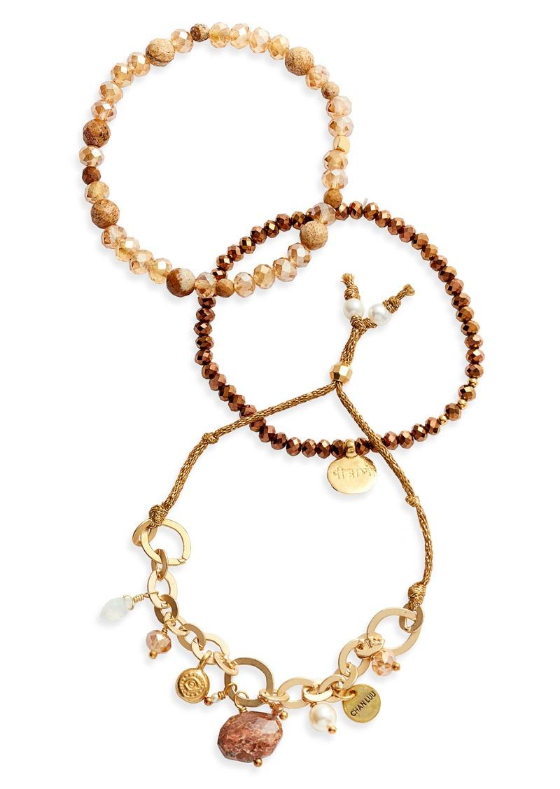 Chan Luu 3-in-1 Crystal Bracelet