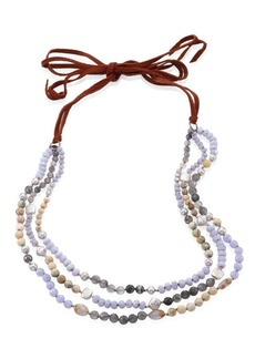 Chan Luu 5-10MM Freshwater Pearl & Blue Lace Agate Multi-Layer Necklace