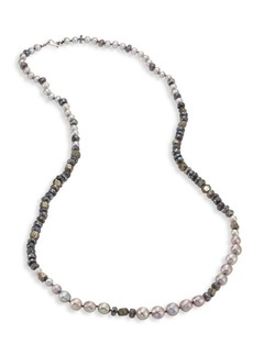 Chan Luu 6-10MM Pearl, Pyrite & Mystic Lab Strand Necklace