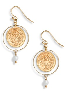 Chan Luu Amazonite Coin Earrings
