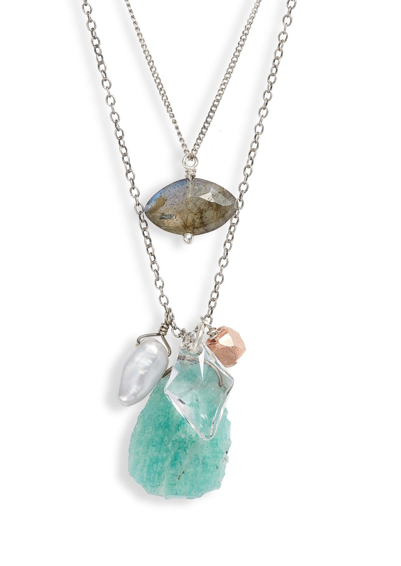 Chan Luu Amazonite Double-Layer Necklace