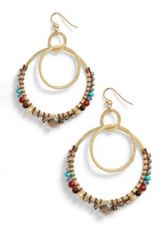 Chan Luu Beaded Double Hoop Earrings
