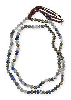 Chan Luu Beaded Tassel Necklace