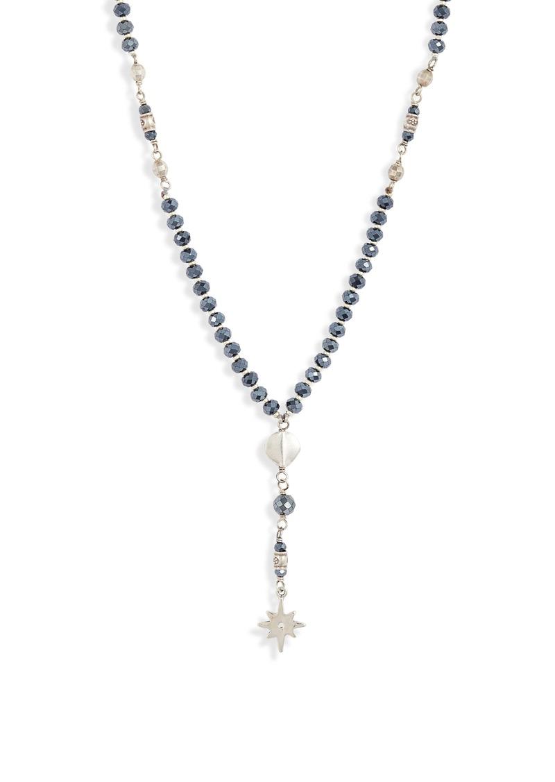 Chan Luu Black Star Y-Necklace