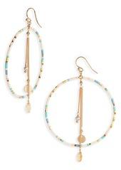 Chan Luu Chain Fringe Hoop Earrings