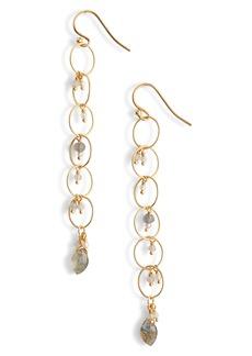 Chan Luu Chain Hoop Linear Drop Earrings