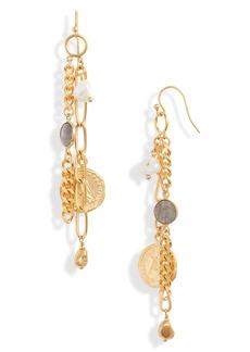 Chan Luu Coin & Chain Drop Earrings