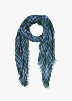 Chan Luu Cotton Square Plaid Scarf