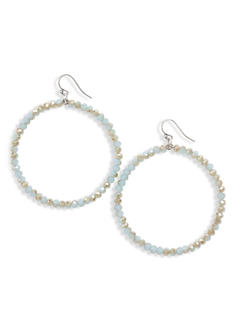 Chan Luu Crystal Hoop Earrings