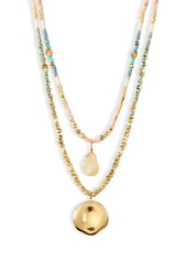 Chan Luu Double Layer Beaded Necklace