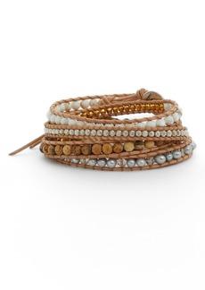 Chan Luu Freshwater Pearl & Semiprecious Stone Wrap Bracelet
