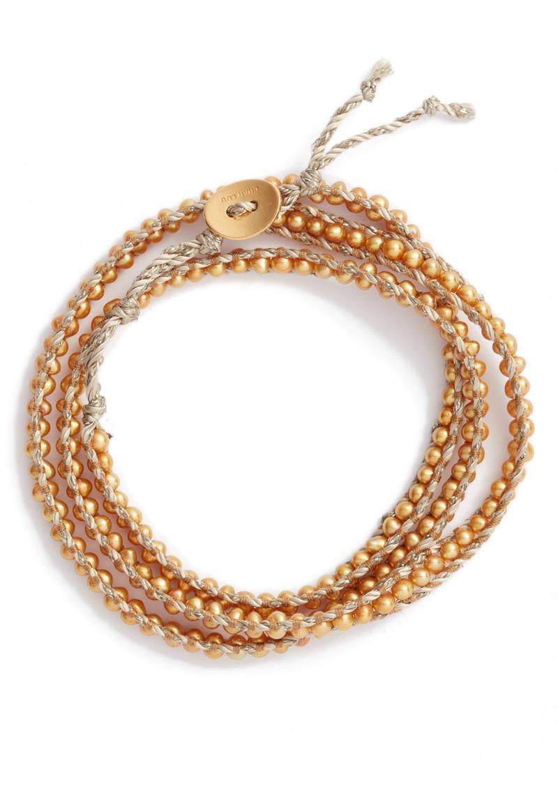 Chan Luu Freshwater Pearl Three-Strand Wrap Bracelet