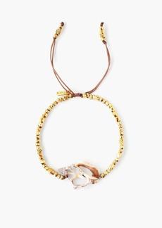 Chan Luu Gold & Shell Pull Tie Bracelet