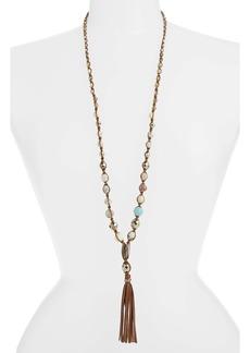 Chan Luu Graduated Semiprecious Stone Beaded Pendant Necklace