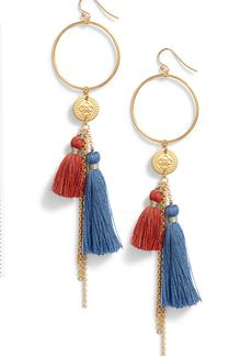 Chan Luu Hoop & Tassel Earrings