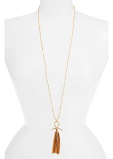 Chan Luu Horn & Tassel Layering Necklace