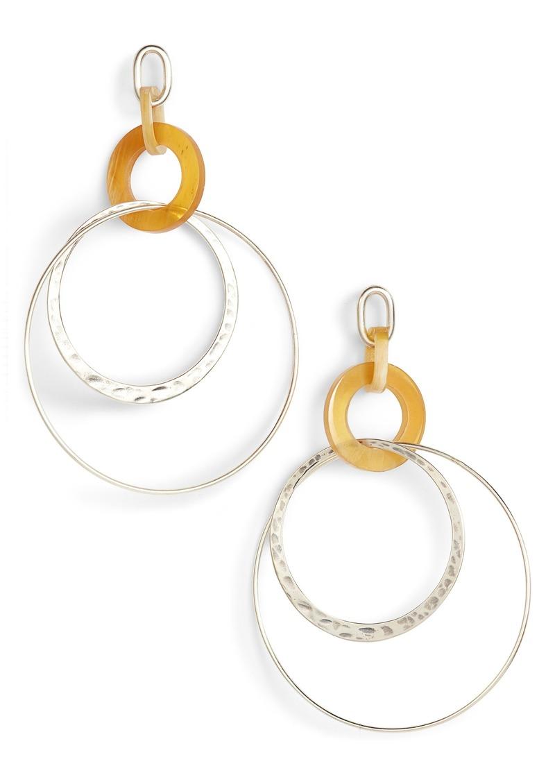 Chan Luu Horn Hoop Earrings